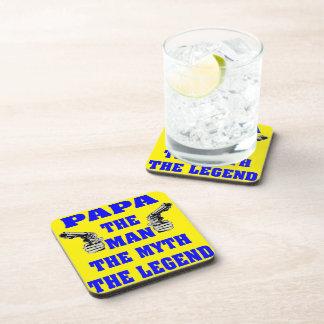 PaPa The Man the Myth The Legend Beverage Coaster