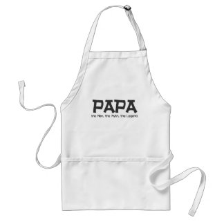 Papa: the Man, the Myth, the Legend Gifts Adult Apron