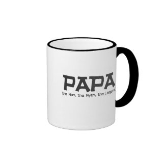 Papa: the Man, the Myth, the Legend Gifts. Ringer Coffee Mug