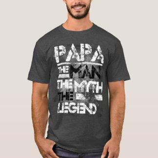 Papa The Man The Myth The Legend Grunge T-Shirt