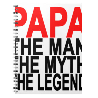 papa the myth the man the legend notebook
