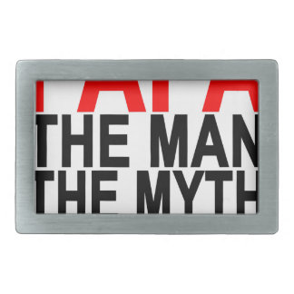 papa the myth the man the legend rectangular belt buckle