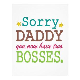 Papá triste - dos jefes membrete a diseño