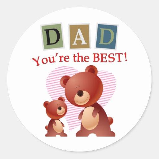 Papá, usted es el mejor pegatina redonda