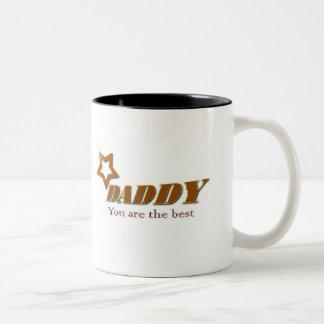 Papá, usted es el mejor taza dos tonos