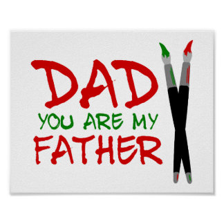 Papá usted es mi padre póster