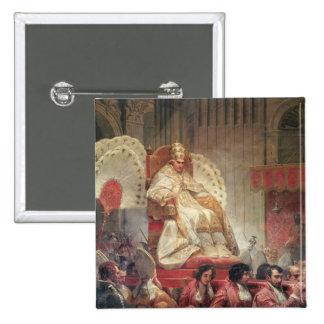 Papa VIII en San Pedro en el Sedia Gestatoria Pin Cuadrado