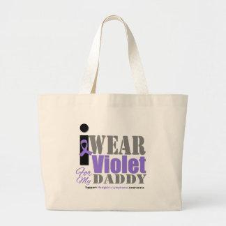 Papá violeta de la cinta de Hodgkins Bolsas