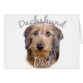 Papá (wirehaired) 2 del Dachshund Felicitacion