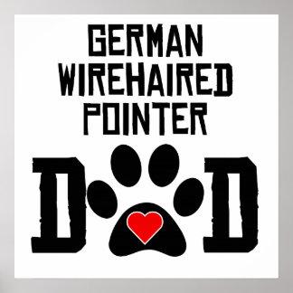 Papá Wirehaired alemán del indicador Impresiones