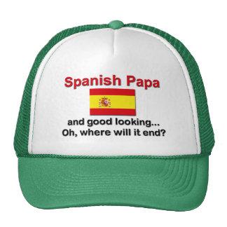 Papá y apuesto españoles gorra