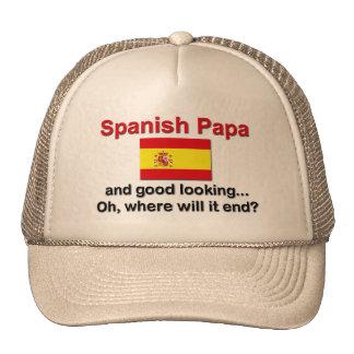 Papá y apuesto españoles gorras