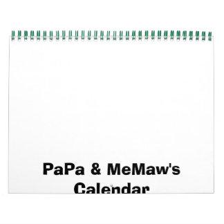 Papá y el calendario de MeMaw
