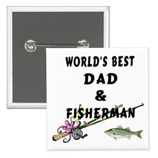 Papá y pescador pin