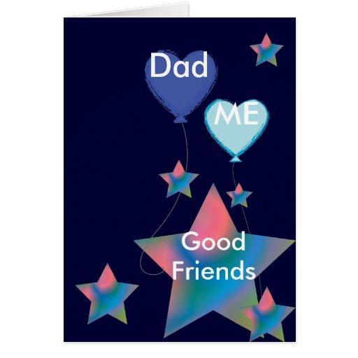 Papá y yo buen Amigo-Personalizar Tarjeta De Felicitación