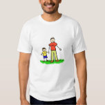 Papá y yo camiseta (Brunette sin título) Polera