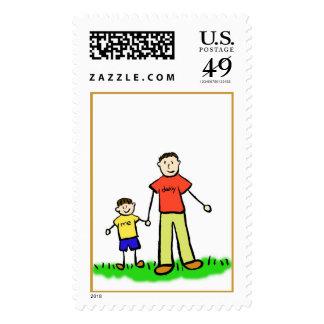 Papá y yo sello (Brunette sin título)