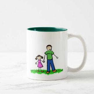 Papá y yo taza (Brunette sin título)