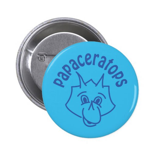 PAPAceratops 2 Inch Round Button