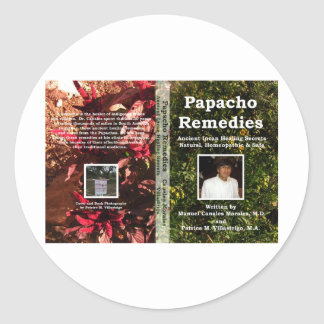 Papacho Remedies Book Cover Classic Round Sticker