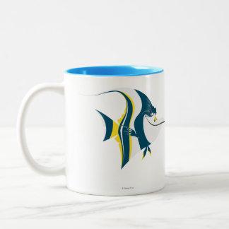 Papada 2 taza de café de dos colores