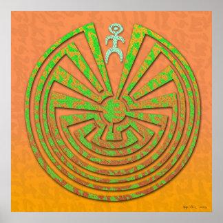 Papago Maze Copper Green Poster