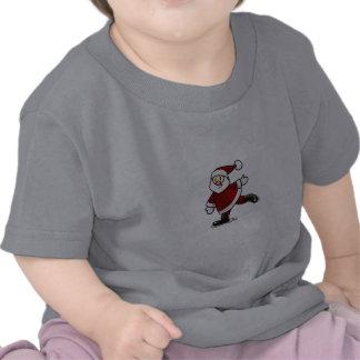 Papai Noel Patinando Camiseta