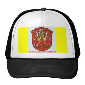 PAPAL TRADITIONAL CATHOLIC COAT OF ARMS HAT