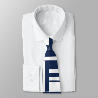 Papa's Blue and White Abstract 2 Neck Tie