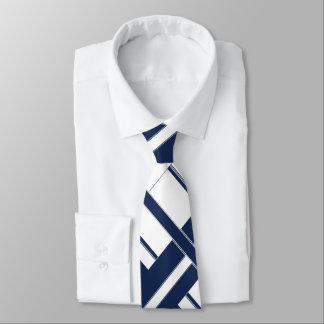 Papa's Blue and White Cross-Hatch Necktie