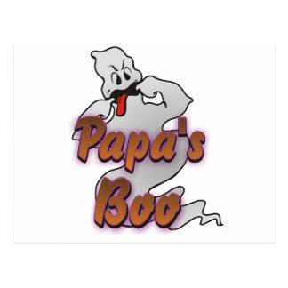 Papa's Boo Halloween Ghost Postcard