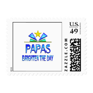 Papas Brighten the Day Postage Stamps