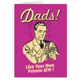 Papás: Como propia atmósfera privada Tarjeta De Felicitación