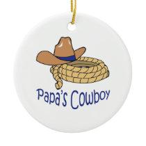 Papas Cowboys Ceramic Ornament