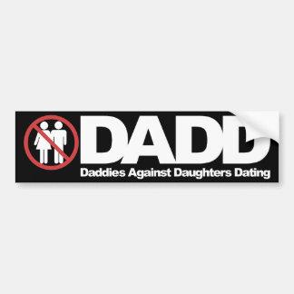 Papás de DADD contra fechar de las hijas Etiqueta De Parachoque