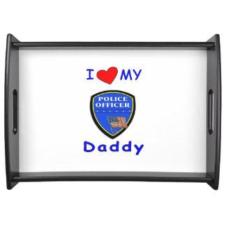 Papás de la policía bandeja