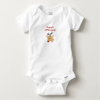 Papa's Dear Deer Papa Christmas Baby Onesie