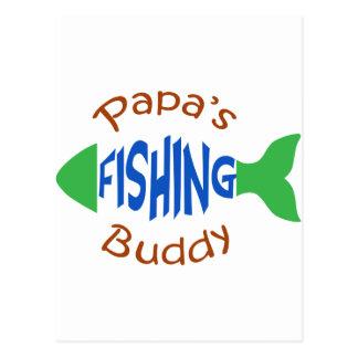Papas Fishing Buddy Postcard