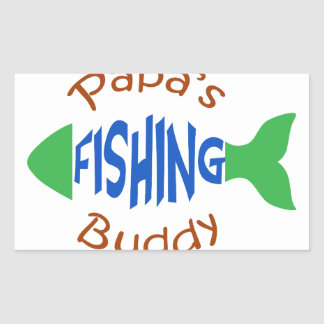 Papas Fishing Buddy Rectangular Sticker