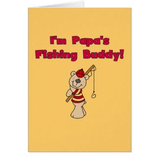 Papa's Fishing Buddy Tshirts and Gifts Greeting Card