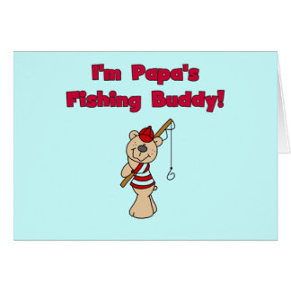 Papa's Fishing Buddy Tshirts and Gifts Card