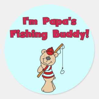 Papa's Fishing Buddy Tshirts and Gifts Classic Round Sticker