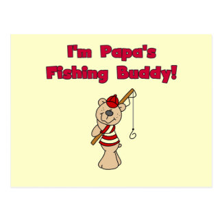 Papa's Fishing Buddy Tshirts and Gifts Post Cards