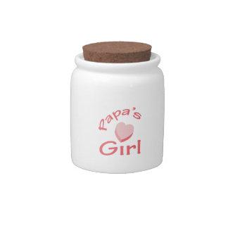 PAPAS GIRL CANDY JARS