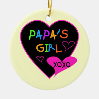 Papa's Girl Tees, Hats, Mugs, Buttons, clothing Ceramic Ornament