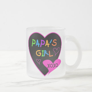 Papa's Girl Tees, Hats, Mugs, Buttons, clothing Frosted Glass Coffee Mug