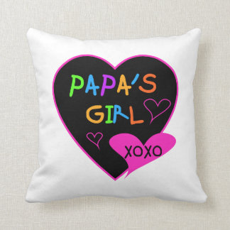 Papa's Girl Tees, Hats, Mugs, Buttons, clothing Throw Pillow