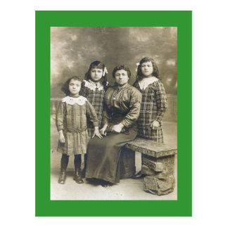 Papa's Girls Postcard