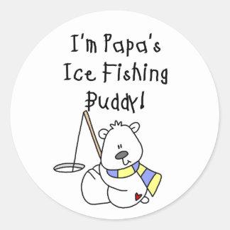 Papa's Ice Fishing Buddy Classic Round Sticker