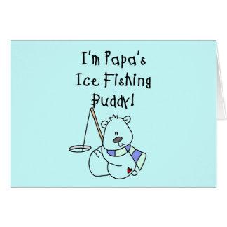 Papa's Ice Fishing Buddy Tshirts and Gifts Card